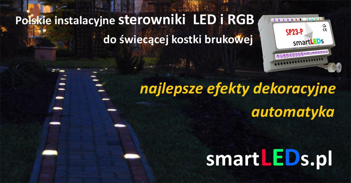 Kostka brukowa LED i sterowniki ośw