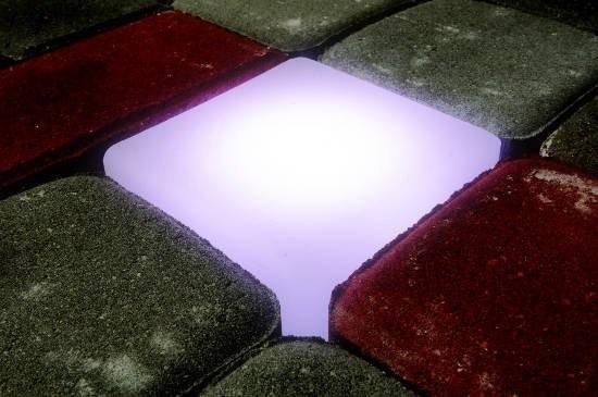 Świecąca kostka brukowa LED. Sterowniki LED i RGB do świecącej kostki brukowej.