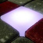 świecąca kostka brukowa LED