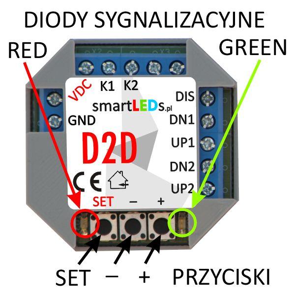 smartLEDs D2D 2-kanałowy ściemniacz LED