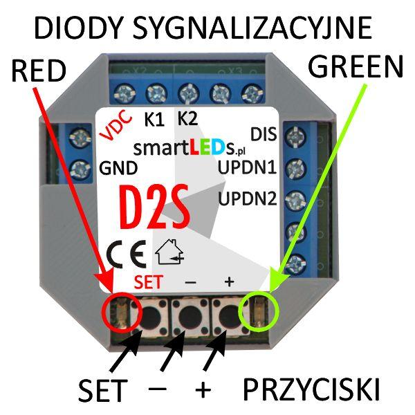 smartLEDs D2S 2-kanałowy ściemniacz LED