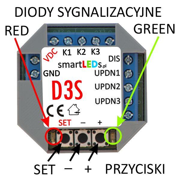 smartLEDs D3S 3-kanałowy ściemniacz LED