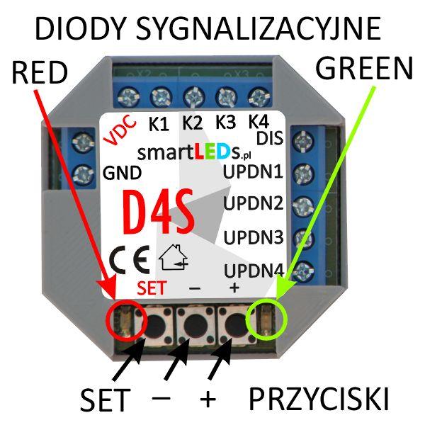 smartLEDs D4S 4-kanałowy ściemniacz LED