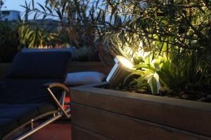 Oświetlenie ogrodu i tarasu, reflektor