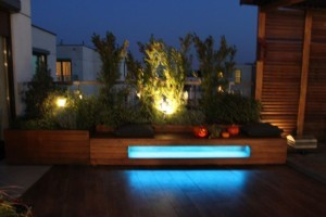Oświetlenie LED RGB tarasu