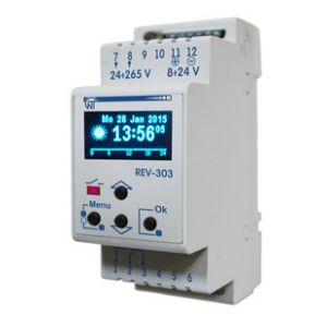 REV-303 Programowalny zegar astronomiczny. Zastępuje czujnik zmierzchu (wyłącznik zmierzchowy)