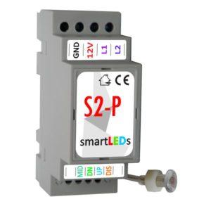 Inteligentny automat schodowy LED z wyłącznikiem zmierzchu. Sterownik schodowy oświetlenia LED smartLEDs S2-P.