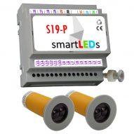 Zestaw do automatyki oświetlenia LED schodów (sterownik schodowy LED + 2 czujnki ruchu CRSW1)