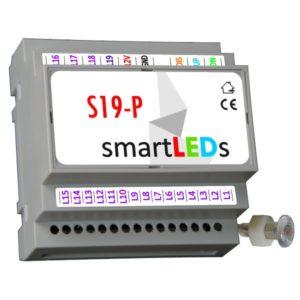 Inteligentny sterownik schodowy LED smartLEDs S19-P (PREMIUM) z wyłącznikiem zmierzchowym