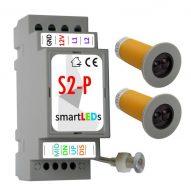 Zestaw do automatyki oświetlenia LED schodów (sterownik schodowy LED z wyłącznikiem zmierzchu + 2 czujnki ruchu CRSW1)