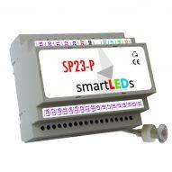 Inteligentny sterownik schodowy oświetlenia LED smartLEDs SP23-P (PREMIUM) z wyłącznikiem zmierzchowym i obsługą półpiętra