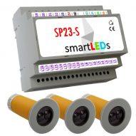 Zestaw do automatyki oświetlenia LED schodów (sterownik schodowy LED + 3 czujnki ruchu CRSW1)