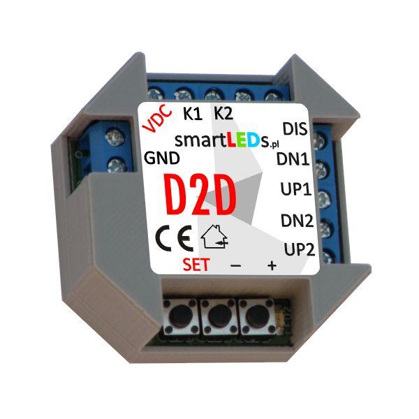 Polski, podtynkowy, dwukanałowy ściemniacz LED smartLEDs D2D