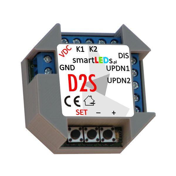 Polski, podtynkowy, dwukanałowy ściemniacz LED smartLEDs D2S