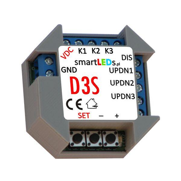 Polski, podtynkowy, 3-kanałowy ściemniacz LED smartLEDs D3S