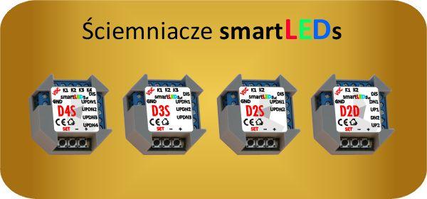 Wielokanałowe, podtynkowe ściemniacze LED smartLEDs