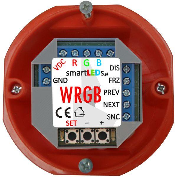 smartLEDs WRGB Inteligentny sterownik RGB płynnej zmiany kolorów w puszce elektrycznej