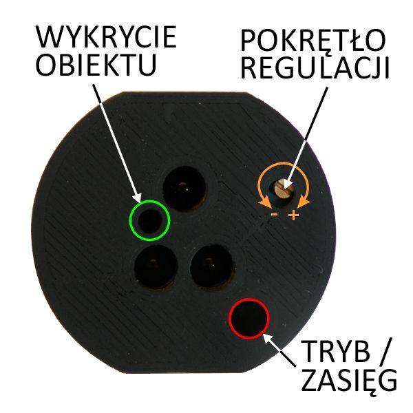 Schodowy czujnik ruchu i odległości - optyczny odbiciowy 12V 200cm - smartLEDs DELTA