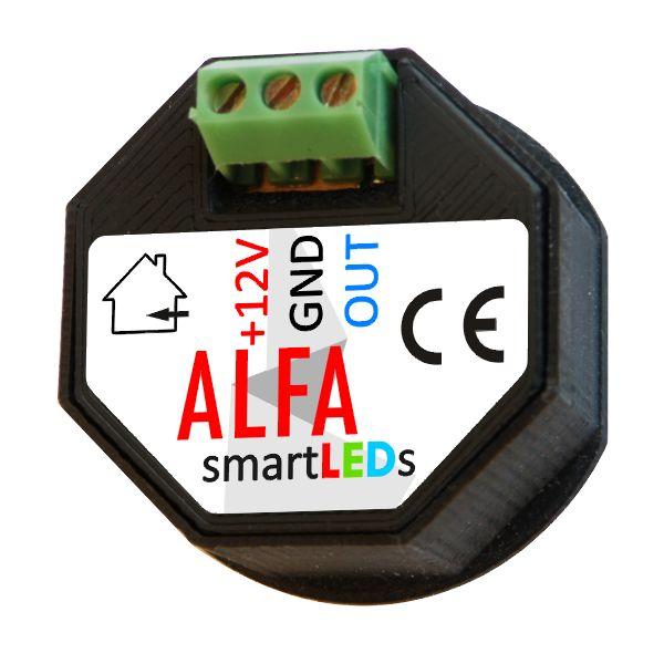 Schodowy czujnik ruchu i odległości - Czujnik optyczny dyfuzyjny 12V - do LED - 100cm - smartLEDs ALFA
