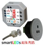 Czujnik ruchu z modułem czasowym, wbudowanym wyłącznikiem zmierzchowym i sondą światła - ALFA PLUS smartLEDs (wyłącznik czasowy, przekaźnik czasowy, automat schodowy z czujnikiem ruchu)
