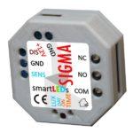 Moduł czasowy (wyłącznik czasowy, włącznik czasowy, przekaźnik czasowy, automat schodowy) SIGMA smartLEDs - widok z tyłu