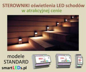 Inteligentne sterowniki schodowe oświetlenia LED smartLEDs, modele Standard