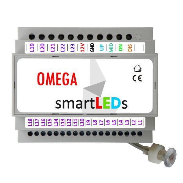 Sterownik oświetlenia LED schodów smartLEDs OMEGA z aplikacją Android Bluetooth (wyprowadzenia sterownika)