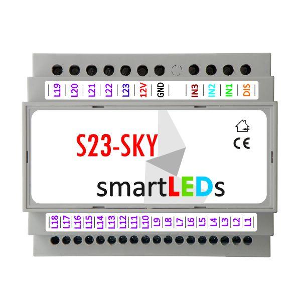Sterownik smartLEDs S23-SKY Gwiezdne niebo. Gwieździste niebo z diodami LED.
