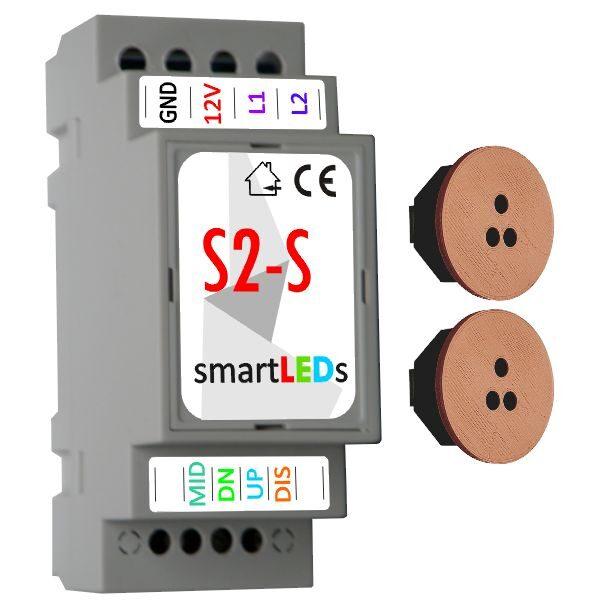 Inteligentny automat schodowy LED z 2 czujnikami ruchu (brązowe, białe)