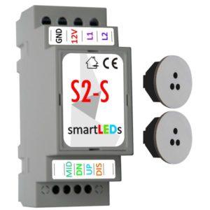 Inteligentny automat schodowy LED z 2 czujnikami ruchu (szare, białe)