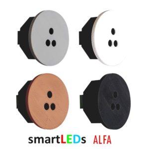 Schodowy optyczny czujnik ruchu - smartLEDs ALFA okrągły 4 kolory