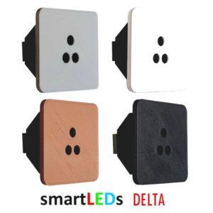 Schodowy optyczny czujnik ruchu - smartLEDs ALFA kwadratowy 4 kolory