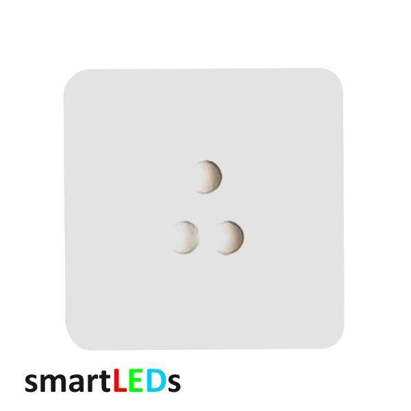 Osłona kwadratowa biała schodowych czujników ruchu smartLEDs