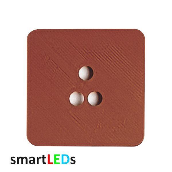 Osłona kwadratowa brązowa schodowych czujników ruchu smartLEDs
