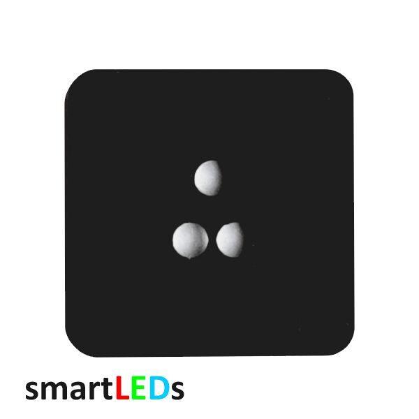 Osłona kwadratowa czarna schodowych czujników ruchu smartLEDs