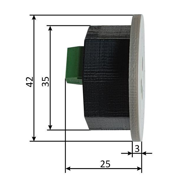 Czujnik ruchu 12V - Schodowy czujnik ruchu do LED 12V 100cm, optyczny dyfuzyjny - smartLEDs DELTA- wymiary