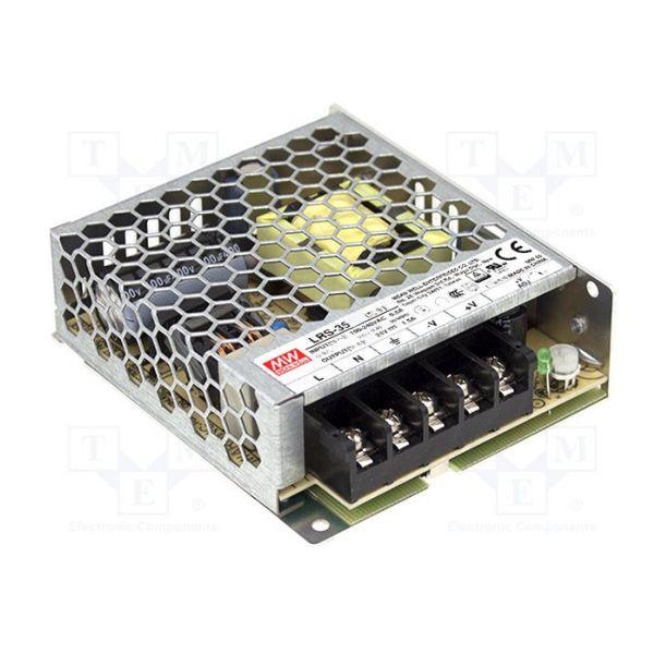 Zasilacz LED Meanwell LRS-35-12 impulsowy modułowy napięciowy