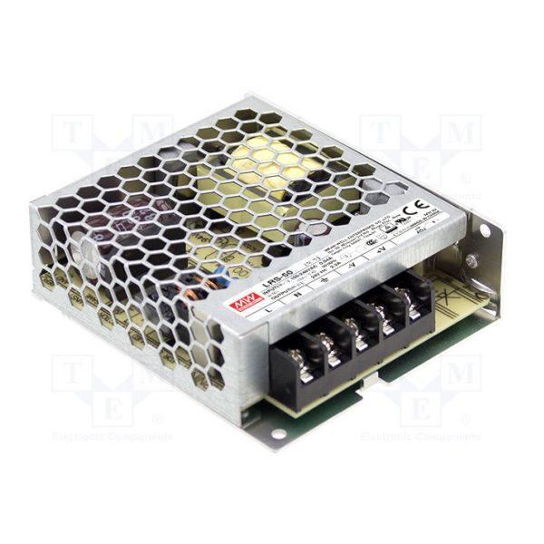 Zasilacz LED Meanwell LRS-50-12 impulsowy modułowy napięciowy