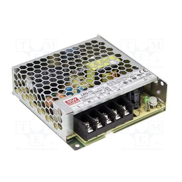 Zasilacz LED Meanwell LRS-75-12 impulsowy modułowy napięciowy