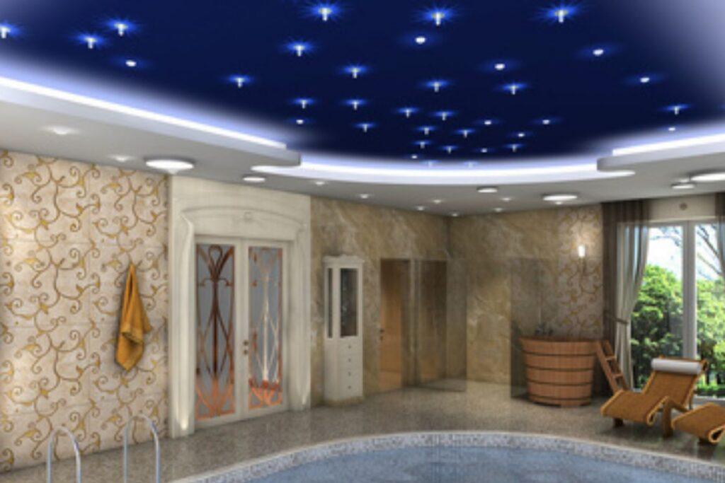 Gwiezdne niebo LED nad basenem - Gwiezdny sufit