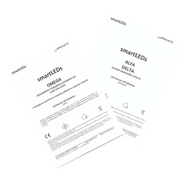 Instrukcje użytkownika - Zestaw schodowy Omega Exclusive (dokumentacja smartLEDs)