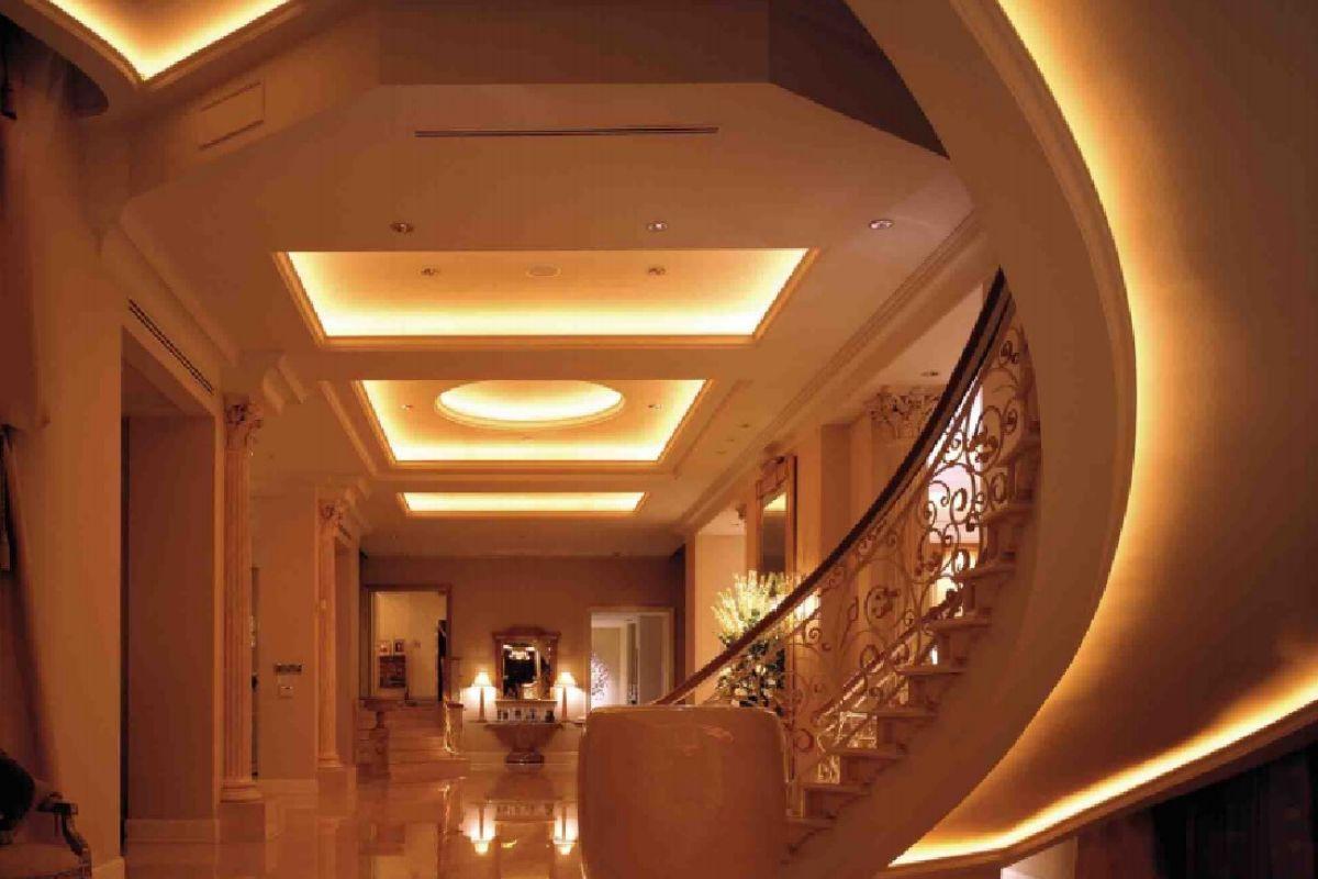 Eleganckie oświetlenie LED wnętrza domu