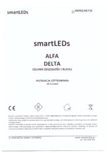 Instrukcja użytkownika - Optyczne czujniki odległości i ruchu - smartLEDs ALFA i DELTA