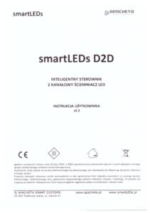Instrukcja użytkownika - Dwukanałowy ściemniacz oświetlenia LED - smartLEDs DRGB