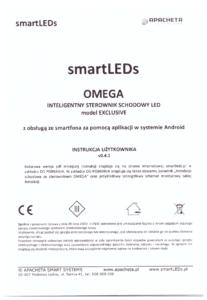 Instrukcja użytkownika - Inteligentny sterownik schodowy oświetlenia LED z aplikacją - smartLEDs OMEGA