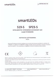 Instrukcja użytkownika - Inteligentny sterownik schodowy oświetlenia LED typu Fala świetlna - smartLEDs S19-S i SP23-S