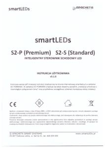 Instrukcja użytkownika - Inteligentny sterownik schodowy oświetlenia LED - smartLEDs S2-P i S2-S