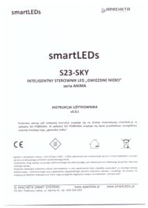 """Instrukcja użytkownika - Inteligentny sterownik LED """"Gwiezdne Niebo"""" z serii NATURA - smartLEDs S23-SKY"""