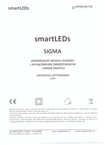 Instrukcja użytkownika - Moduł czasowy smartLEDs SIGMA