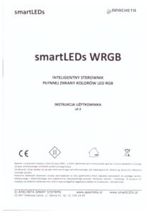 Instrukcja użytkownika - Programowalny sterownik oświetlenia RGB - smartLEDs WRGB